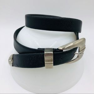 Vintage Womens size Small Belt Leather Black